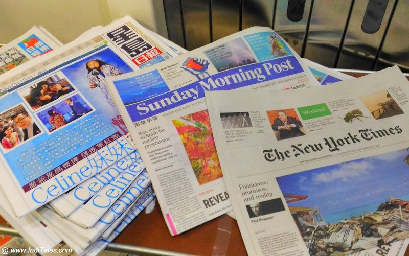 Pick your Newspaper before you board a Cathay Pacific Flight