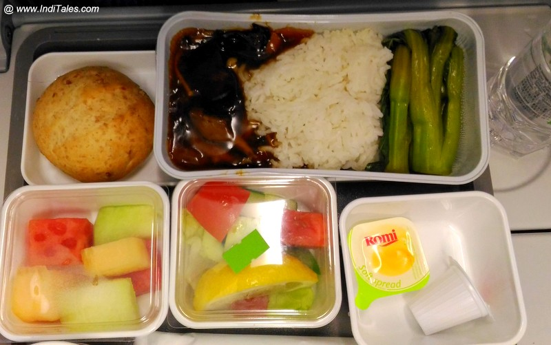 Vegetarian Oriental Meal - Cathay Pacific Hong Kong Mumbai Flight