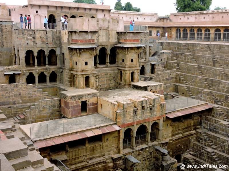 Pavilion corridors of Chand Baori - Abhaneri
