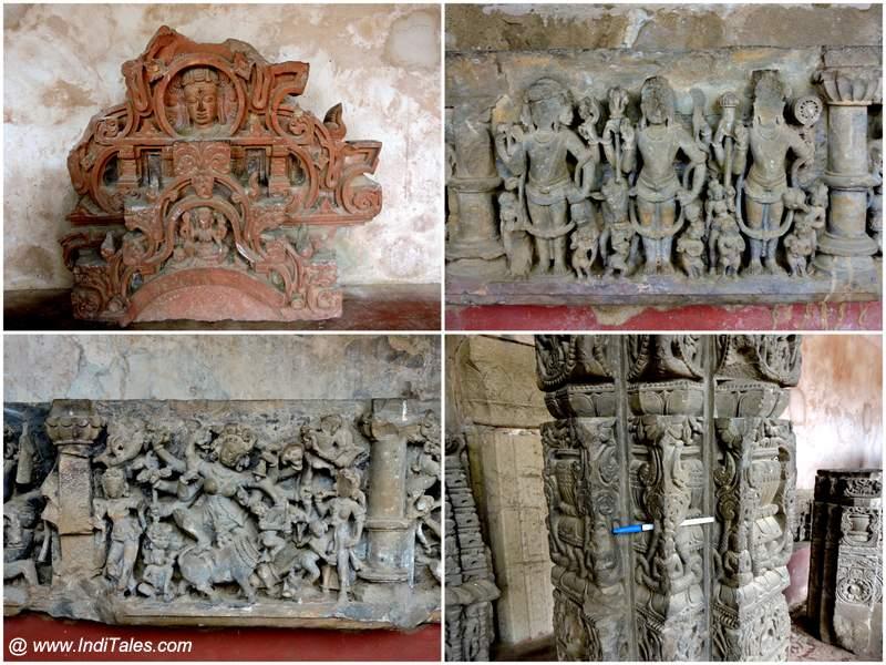 Chand Baori - Mahishasurmardini, Shiva, Vishnu, Mahesh, Carved Pillars