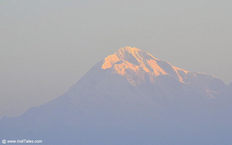 Nanda Devi Himalayan peak view from Binsar