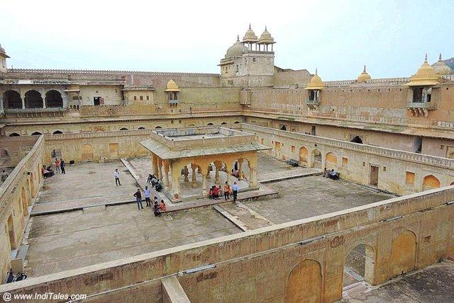 Baradari of Man Singh Mahal at Amer Fort