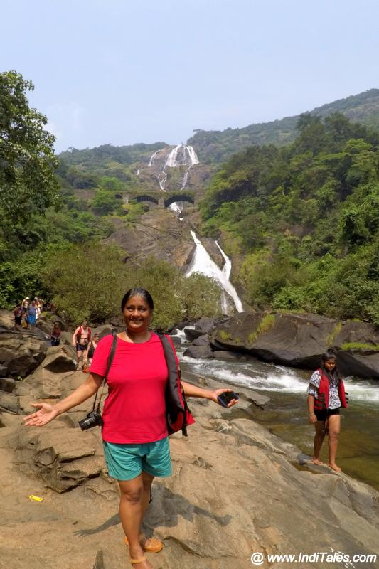 That's Me at the Best Waterfalls of Goa