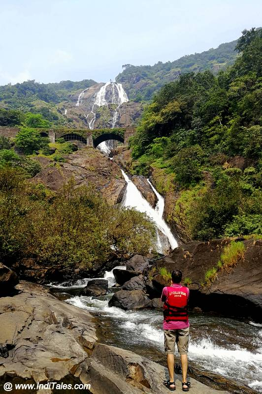 Full View of the best waterfalls of Goa
