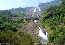 Dudhsagar Waterfalls with Iconic Train Passing Scene