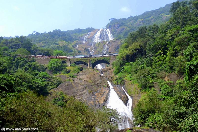 Dudhsagar Waterfalls with Iconic Train Passing Scene