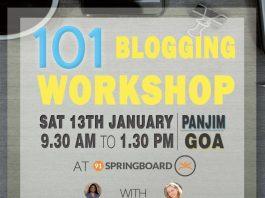 101 Blogging Workshop - Panjim, Goa