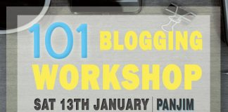 101 Blogging Workshop - Panjim, Goa
