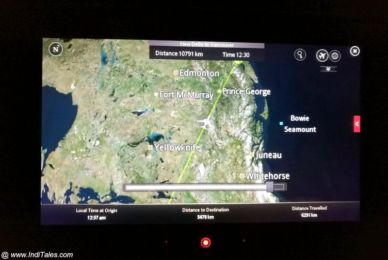 Live interactive map - Air Canada