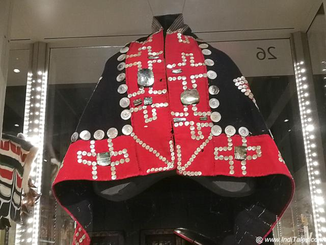 Button Blankets that were worn by the Aboriginals Chief during Potlatch