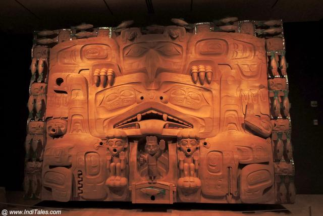 Huge Dance Screen at Audain Museum - Whistler