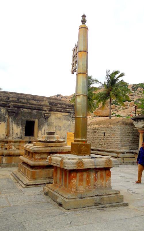 Dhwaj Stambh in front of the temple