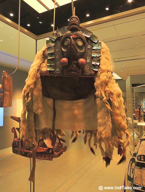 The headgear of the Aboriginals Chief at British Columbia