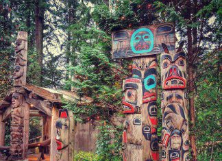 First Nation Totem Poles