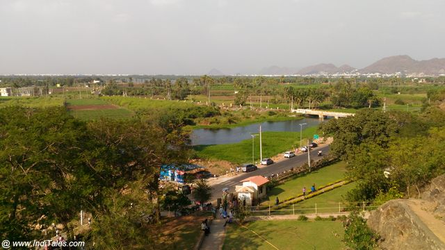 Lush Green Landscape around Undavalli Caves