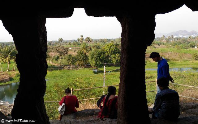 View from inside the Caves at Undavalli