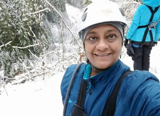 Ready for Whistler Ziplining - Anuradha Goyal