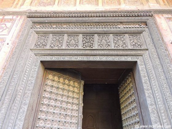 Wood Carved Door - Qila Mubarak - Patiala