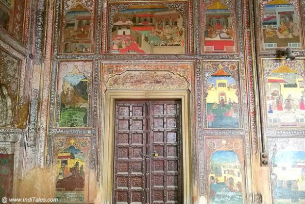 Ornate Paintings of Painted Chamber of Qila Mubarak - Patiala