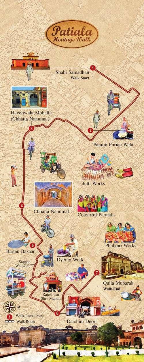 Patiala Heritage Walk Map