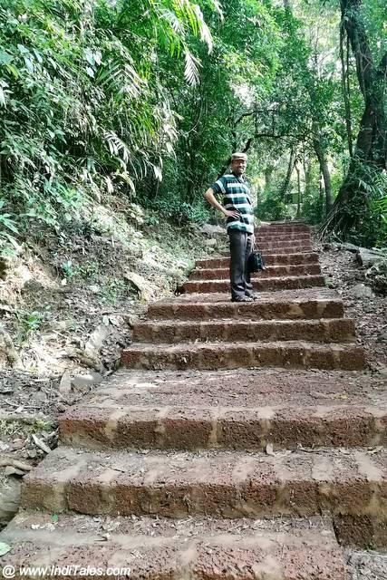 Paved pathway to Vibhuti Falls
