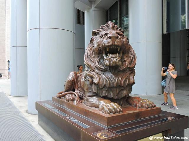 Stephen - The HSBC Lion in Hong Kong