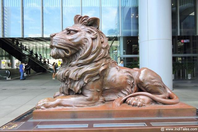 Sttit - the peaceful HSBC Lion