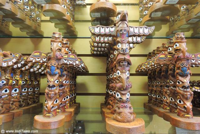 Miniature Totem Poles as Canada Souvenirs