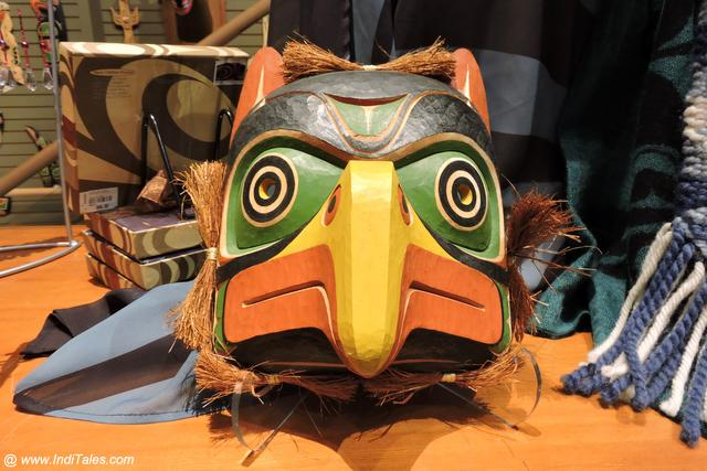 First Nations Wooden Masks as Canada Souvenirs