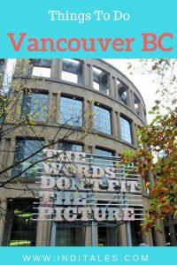 Explore Vancouver BC