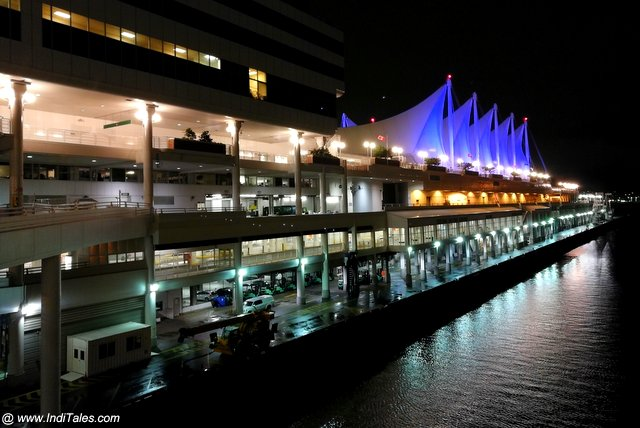 Canada Place at Night - Downtown Vancouver BC