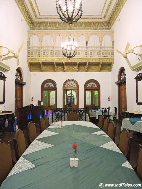 The vintage dining hall at the heritage property