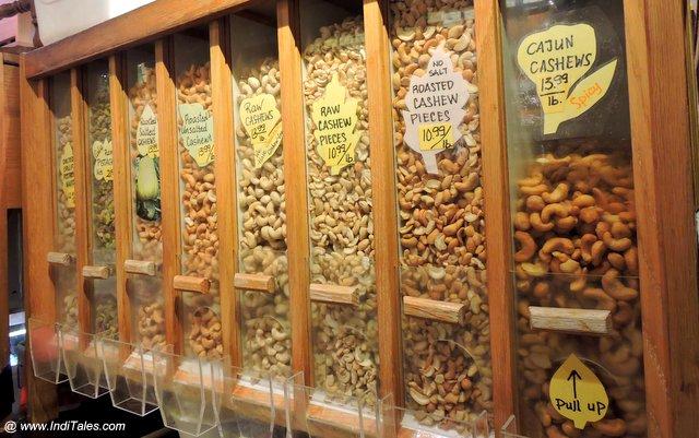 Nut Boxes at Granville Island Public Market - Vancouver BC