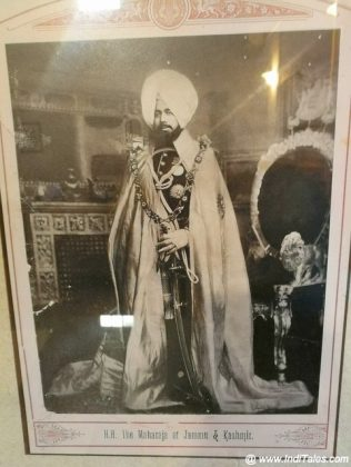 The portrait of Maharaja of Jammu Kashmir