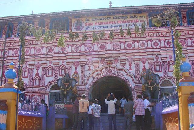 Front facade of Marikamba Temple, Sirsi