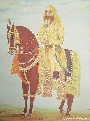 A warrior on a horse portrait