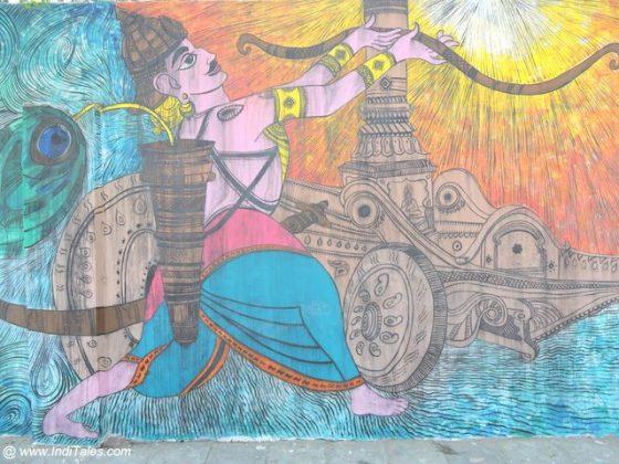 Arjuna - Street Art Kuruskshetra
