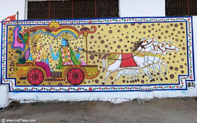Krishna as Arjuna's Sarthi - Street Art Kurukshetra