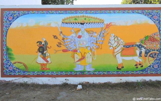 Vishwaroop - Krishna at Mahabharat War - Street Art Kurukshetra