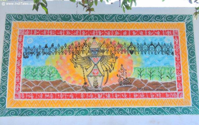Vishwaroop - Krishna - Street Art Kurukshetra