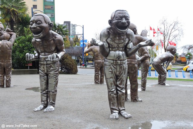 A-MAZE-ING Laughter Sculpture - Vancouver Street Art