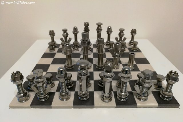 Recycled Chess Pieces - Eastside Culture Crawl - Vancouver BC