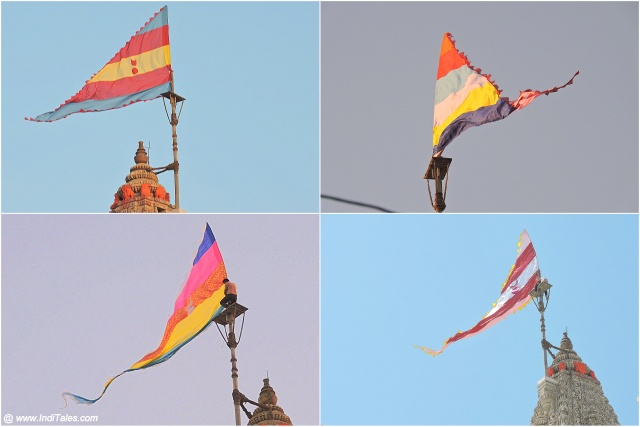 Dhwaja or Flags at Dwarkadhish Temple