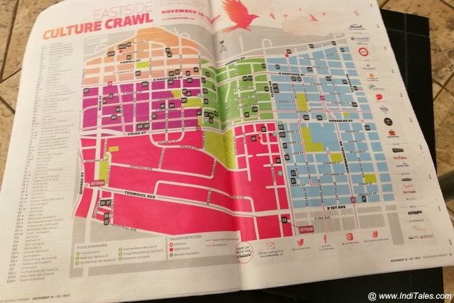 Eastside Culture Crawl Map- Vancouver BC
