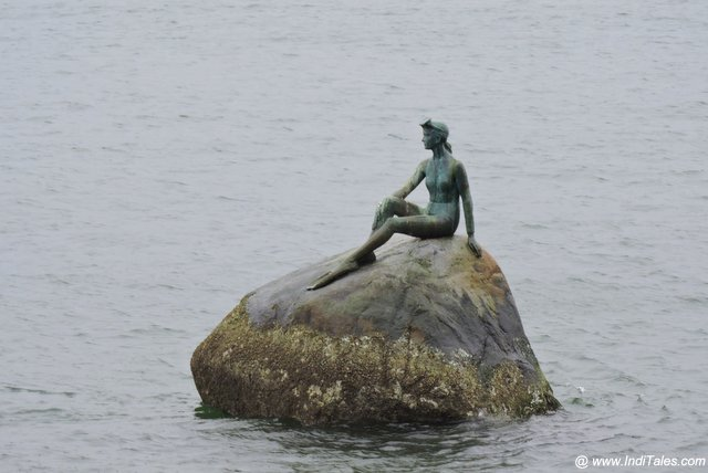 Girl in the Wet Suit Sculpture - Vancouver BC