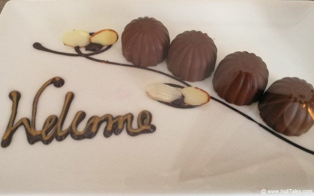Welcome Chocolates in room