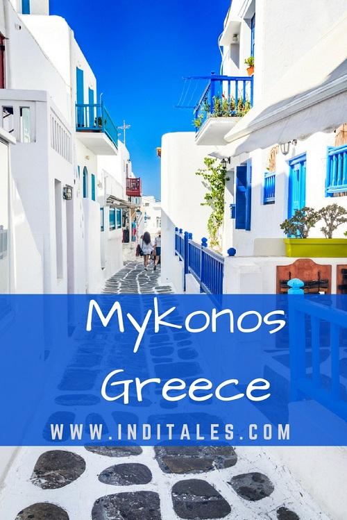 Mykonos Greece Pedestrians