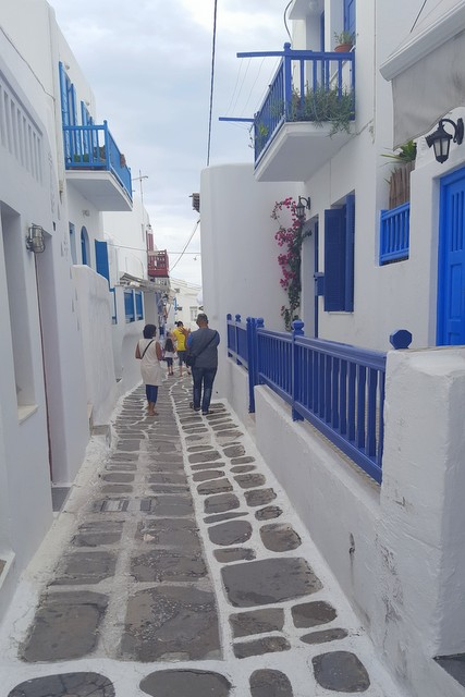 Mykonos Greece Pedestrian