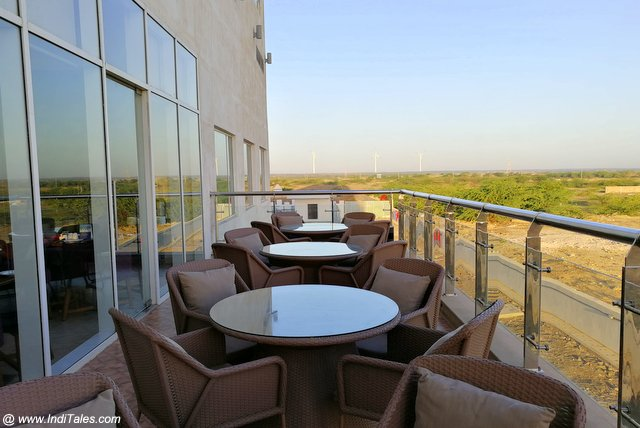 Open-air dining at Mercure Dwarka