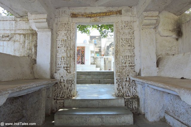 Entrance of ancient Mul Dwarka Temple Complex